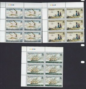 PN159) Pitcairn Islands 1981 125th Anniversary of Migration MUH blocks of 6