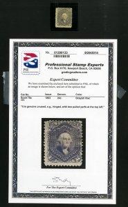US Stamps # 78a F Few nibbled perfs OG H Scott Value $2,750.00