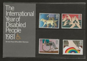 1981 THE INTERNATIONAL YEAR OF DISABLED PEOPLE 1981 PRESENTATION PACK 125