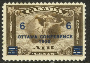 CANADA 1932 OTTAWA CONFERENCE AIRMAIL Sc C4 MHR