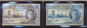 Falkland Islands Stamps Scott #97 To 98, Mint Never Hinged - Free U.S. Shippi...