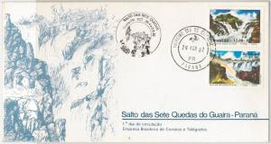 BRAZIL -  POSTAL HISTORY - FDC COVER : WATERFALLS  1982