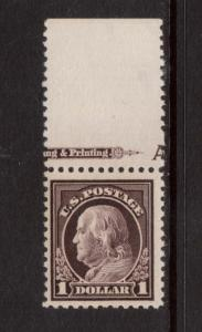USA #518 NH Mint With Imprint