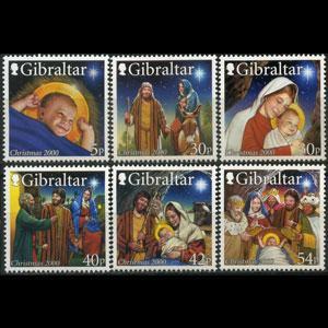 GIBRALTAR 2000 - Scott# 854-9 Christmas Set of 6 NH