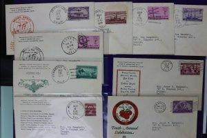 Orange County CA philatelic Society club cachet cover expo lot stamp show 1940s