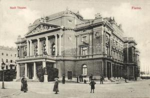 Croatia postcard with stamp Fiume Theater WS49885
