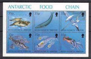 BRITISH ANTARCTIC 1994 Food Chain Sheet; Scott 230, SG 250a; MNH