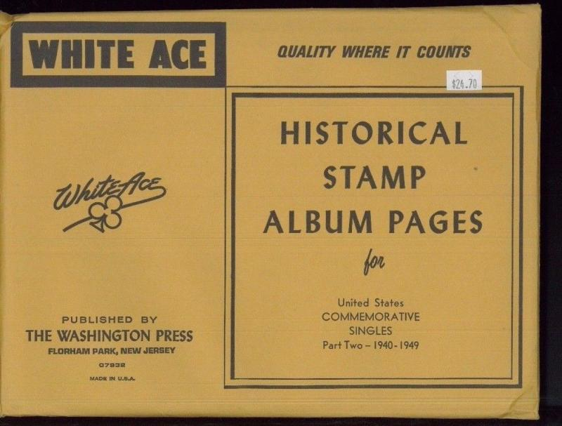 WHITE ACE Historical Album Pages US Commemorative Singles Part Two 1940-1949