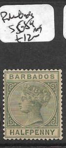 BARBADOS (PP2709B) QV 1/2D SG89   MOG
