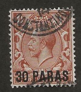 GREAT BRITAIN OFFICES - TURKISH EMPIRE SC# 40  F/U 1913