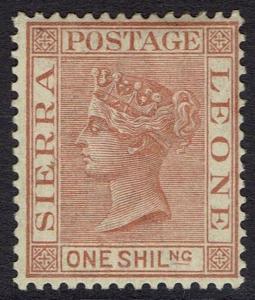 SIERRA LEONE 1884 QV 1/- BROWN