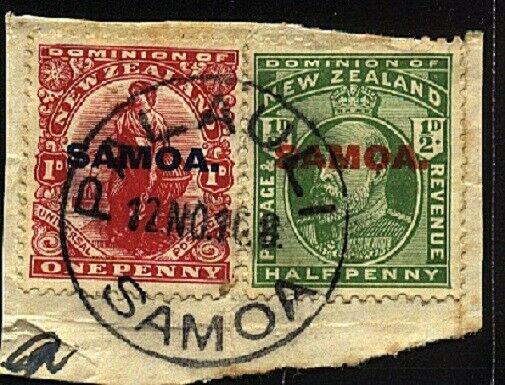 SAMOA 1916 piece with complete strike PALAULI cds..........................24454