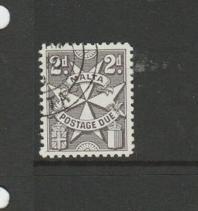 Malta 1966 2d Due, Block Sideways, VFU/CTO SG D27