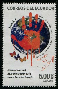 HERRICKSTAMP NEW ISSUES ECUADOR Sc.# 2173 Violence Against Women Joint Issue