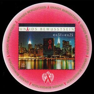 UN-VIENNA 2002 - Scott# B1 S/S AIDS Awareness NH