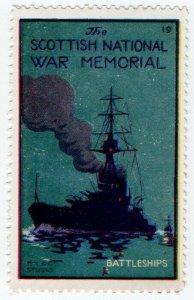 (I.B) Cinderella Collection : The Scottish War Memorial (Battleships)
