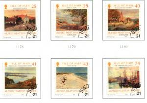Isle of Man  Sc 1063-8 2004 Cooper Paintings stamp set used