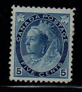 Canada Sc 79 1899 5c  blue Victoria Numeral stamp mint