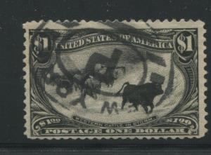 1898 US Stamp #292 $1 Used F/VF New York Cancel Catalogue Value $750