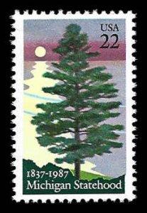 PCBstamps   US #2246 22c Michigan Statehood, MNH, (13)