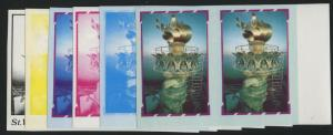 #980C ST VINCENT PROGRESSIVE PROOF SET OF 6 UNLISTED ONLY 10 PAIRS EXIST BL1414