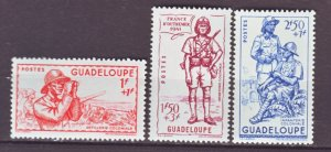 J22219 Jlstamps 1941 guadeloupe mnh set #b9-10 vichy issue