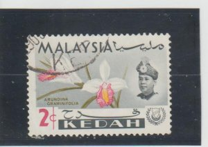 Malaya - Kedah  Scott#  107  Used  (1965 Orchid)
