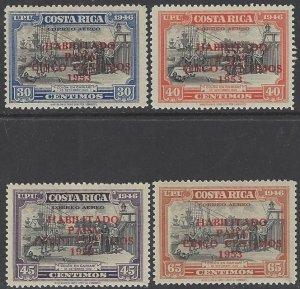 Costa Rica C220-3 Overprinted  UPU 1953