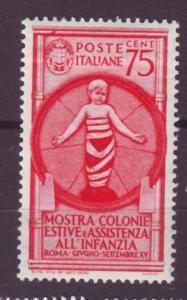 J16973 JLstamps 1937 italy mh #372 bambino