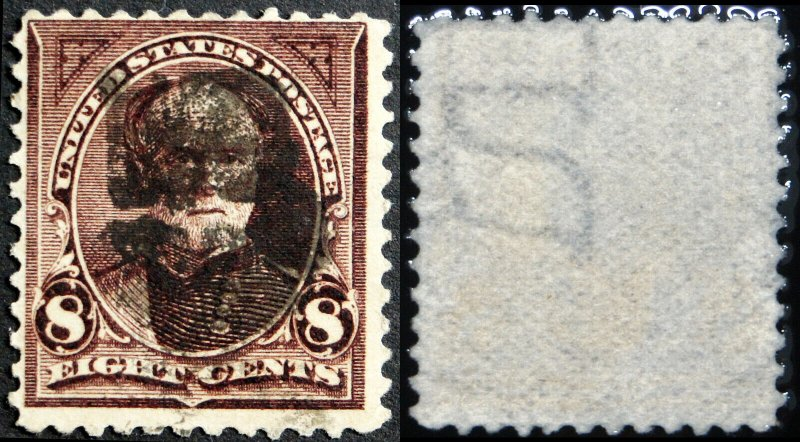 Scott  #272a - USIR watermarked Paper on Postage Stamp.