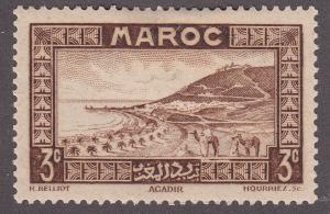 Fr Morocco 126 Hinged 1933 Roadstead At Agadir