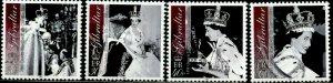 GIBRALTAR Sc#924-927 2003 QEII Coronation Anniversary Complete Set OG Mint NH