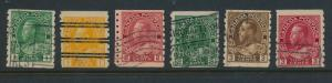 Canada Stamp Set Scott #125-30, Used, Coils - Free U.S. Shipping, Free Worldw...