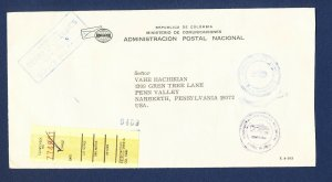 COLOMBIA - # Official envelope posted to USA