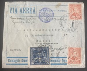 1930 Asuncion Paraguay Airmail Cover To Basel Switzerland Via Argentina