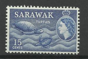 Sarawak 1955, Sg 195, 15c Blue, Lightly Mounted Mint. [1449]