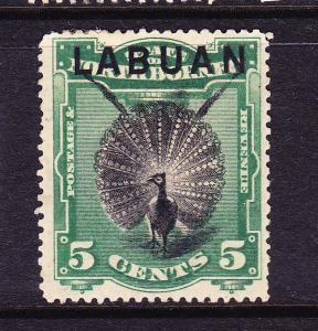 LABUAN  1894-96  5c  PICTORIAL  MHH    SG 65