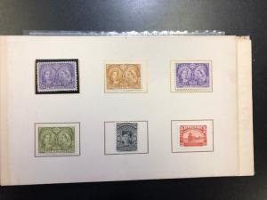 Canada #50 - #65 Mint Diamond Jubilee Original Postage Stamp Album