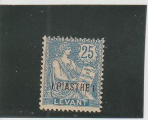 French Offices in Turkey (Levant)  Scott#  34  MH  (1903 Surcharged)