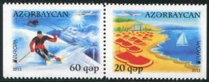 HERRICKSTAMP AZERBAIJAN Sc.# 981-82 Europa 2012