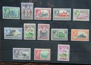 Solomon Islands 1939 - 1951 set to 10s MM (1.5d unused 1d 3d 1s 2s Toned gum)