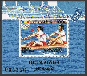Romania 3757,MNH.Michel 4711 Bl.274. Olympics Barcelona-1992.Rowing.