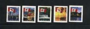Canada #2076-80  -1  used VF 2004 PD