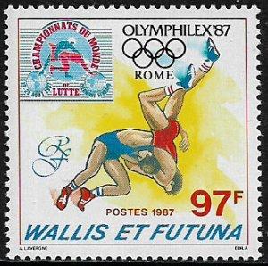 Wallis & Futuna #360 MNH Stamp - OLYMPHILEX '87 Expo