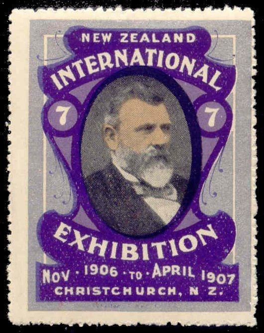 New Zealand 1906 Christchurch Int'l Expo Poster Stamp#8