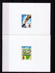 Senegal 1992 Sc#971/974 African Football Cup 18th.Set(4) DELUXE SS MNH VF