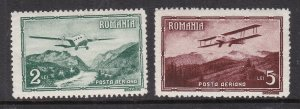ROMANIA  ^^^^^^^BOB sc# C17+ C19  MNH   AIRPOSTS $$@ lar 1962roma