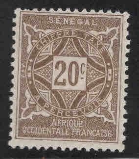 Senegal Scott J15 MH* 1914 postage due
