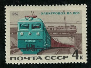 1966, Electric locomotive VL 80k, 4kop, MNH, ** (T-9829)