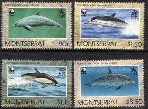MONTSERRAT SG833/6 1990 DOLPHINS MNH
